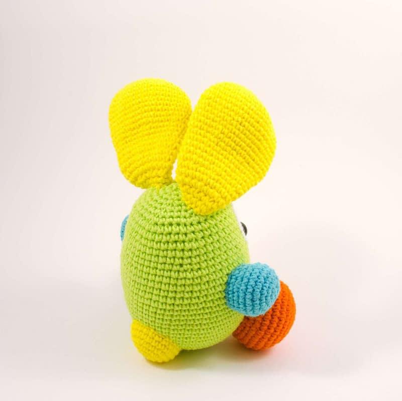 crochet bunny back view