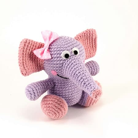 crochet tammy the purple baby elephant