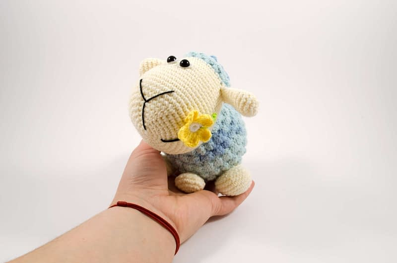 crochet sheep side view