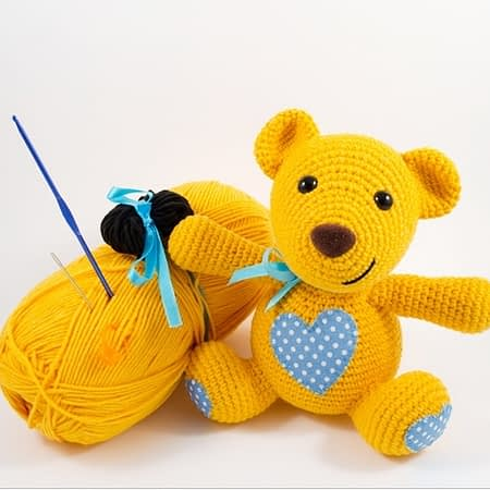 crochet teddy bear diy kit