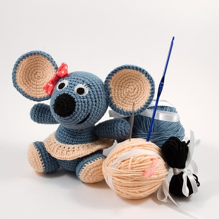 crochet mouse diy kit