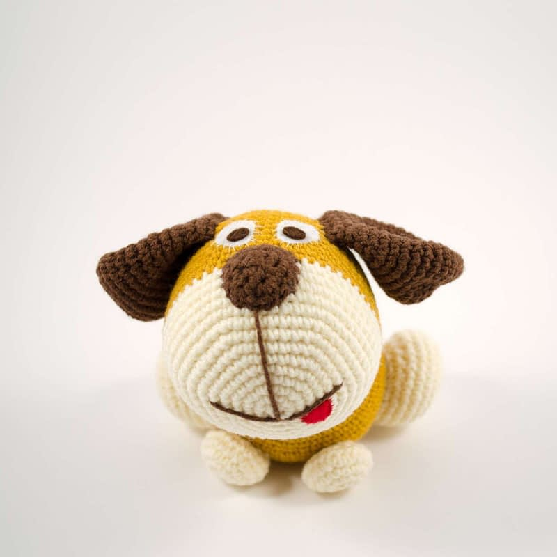 amigurumi dog front view