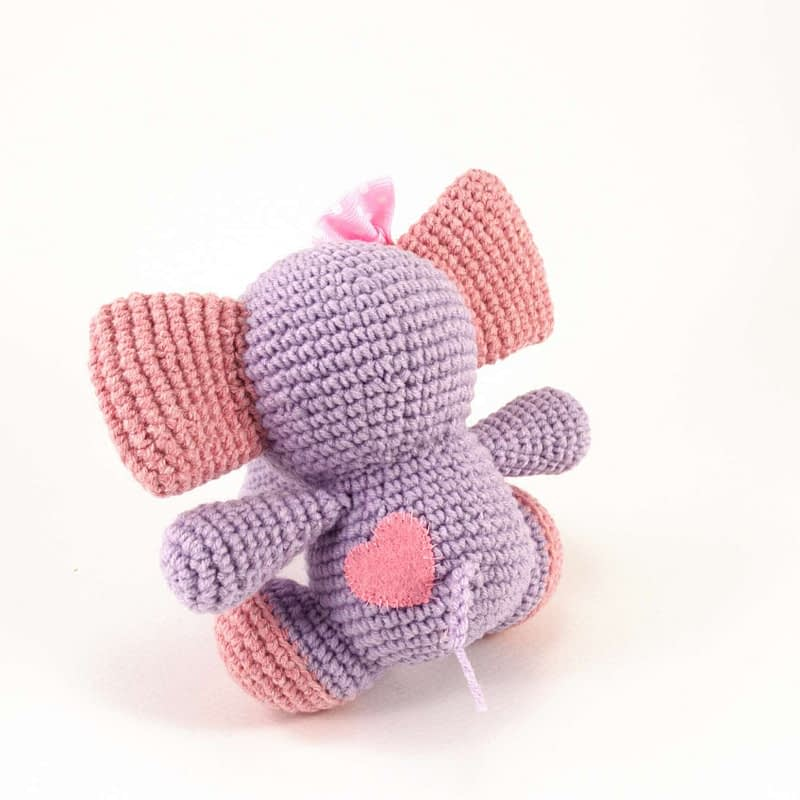 crochet elephant back view
