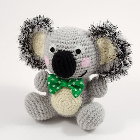 crochet koala toy front view