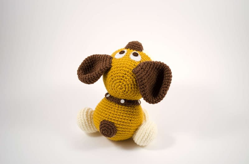 crochet dog back view