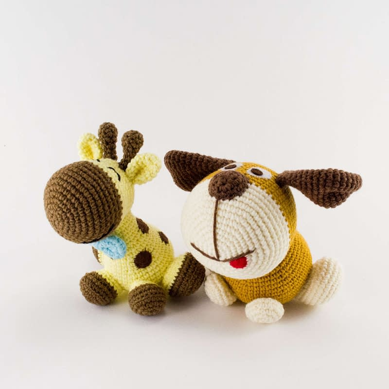 crochet dog and giraffe pattern