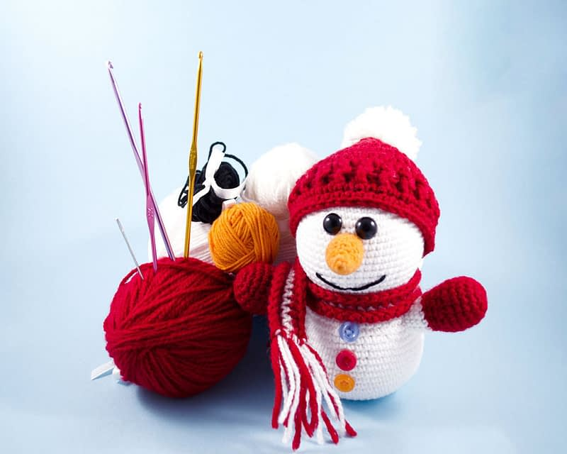 crochet snowman diy crochet kit