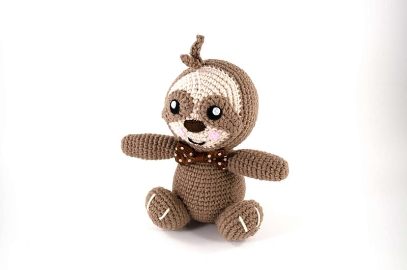 crochet little sloth front view
