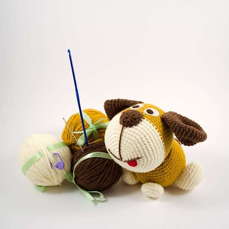 crochet puppy diy kit