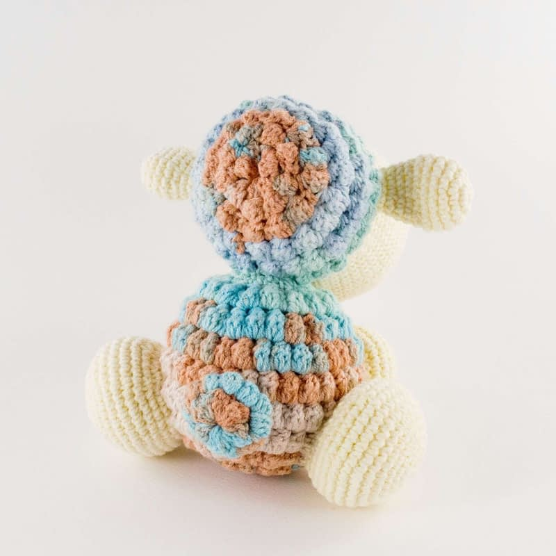 crochet sheep toy back view