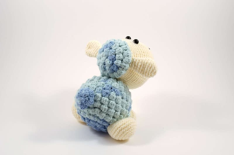 crochet sheep back view