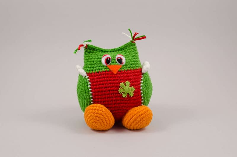crochet christmas owl toy