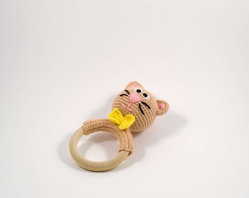 crochet kitty teething ring