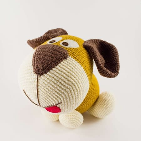 big amigurumi dog