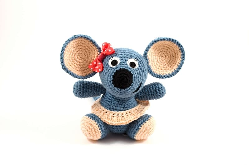 amigurumi girl mouse front view