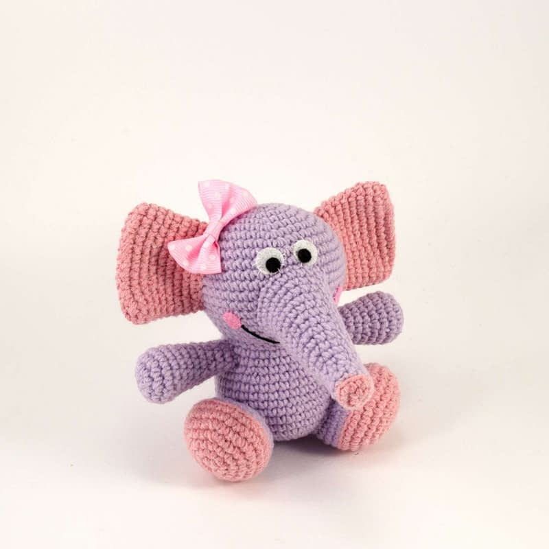 amigurumi purple elephant size