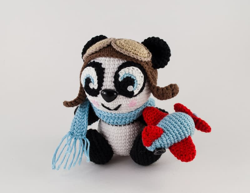 crochet panda pattern_front view