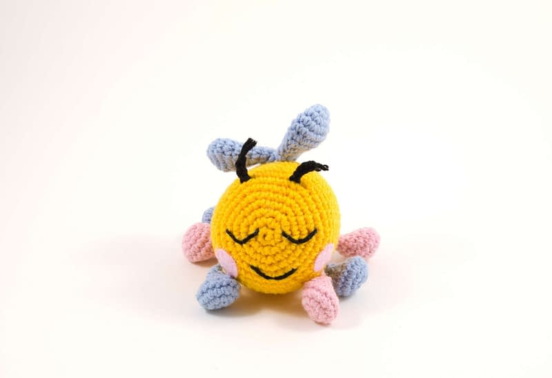 crochet bibi the bee front view