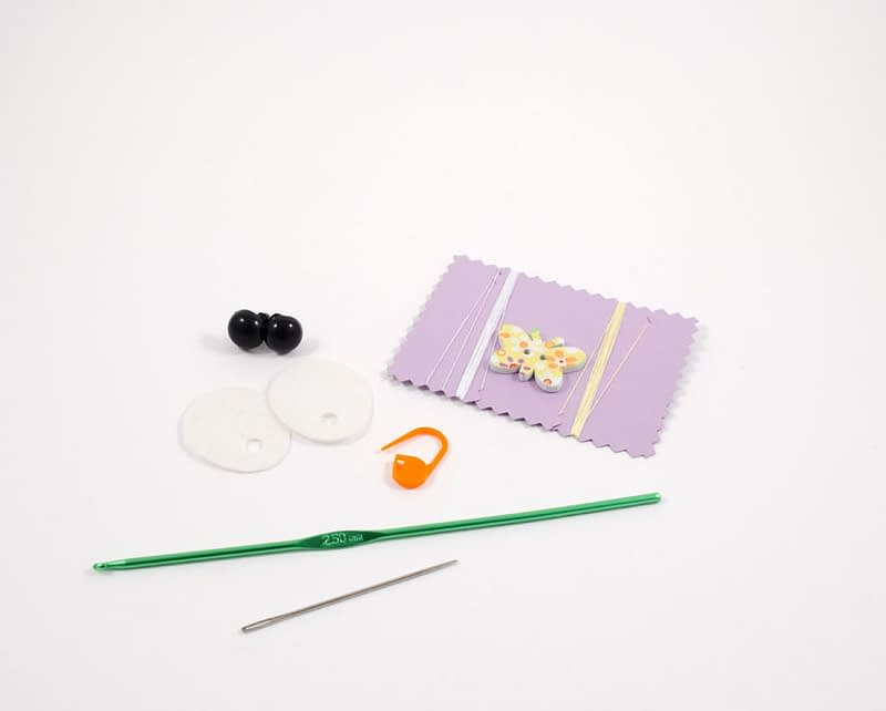 crochet bunny diy kit supplies