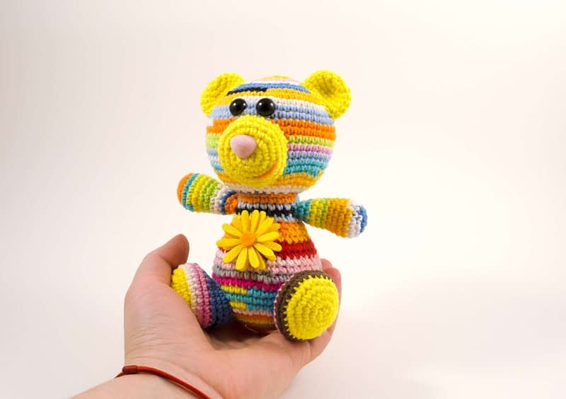 amigurumi teddy bear front view
