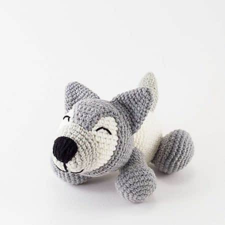 crochet husky dog toy