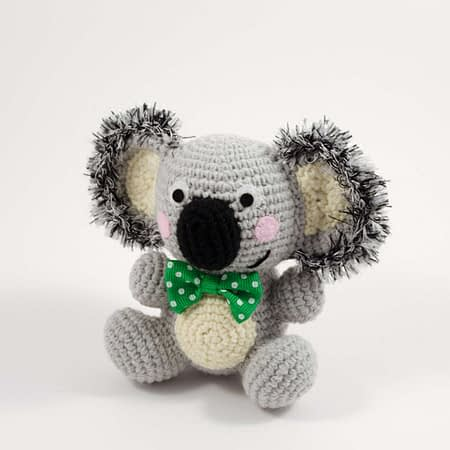 crochet ben the koala front view