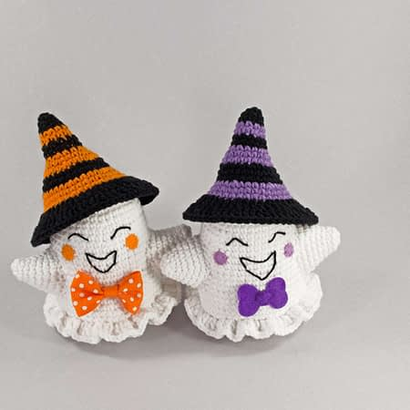 cute halloween crochet ghosts