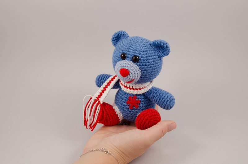 amigurumi christmas teddy bear