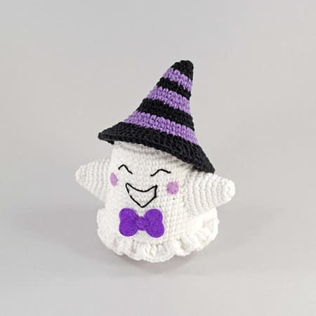 crochet purple ghost front view