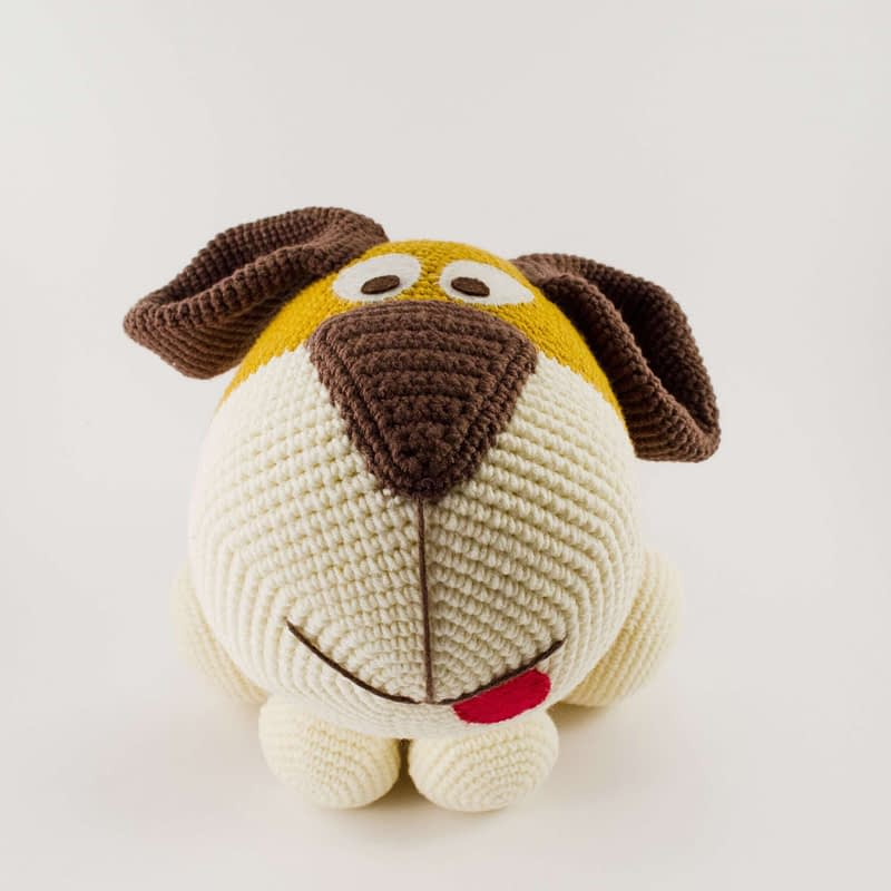 big crochet dog front view