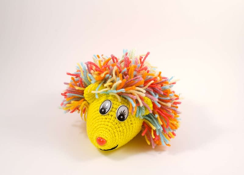 crochet hedgehog front view
