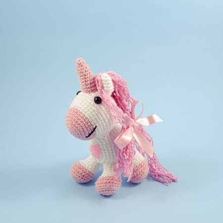 crochet pink unicorn