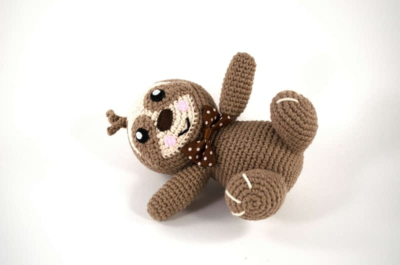 amigurumi sloth toy