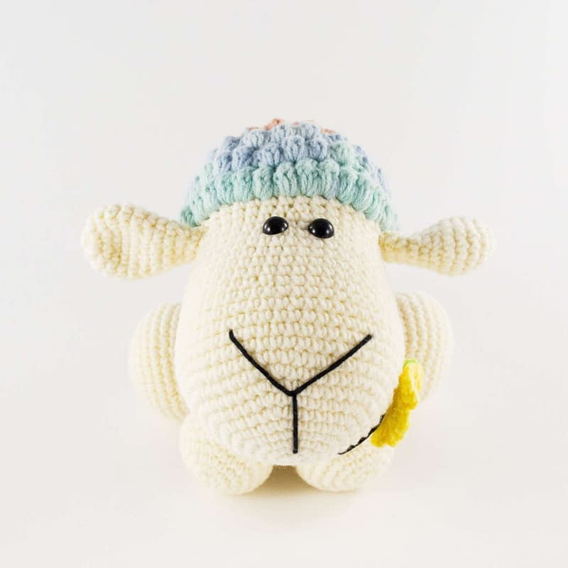 crochet wooly the sheep front view