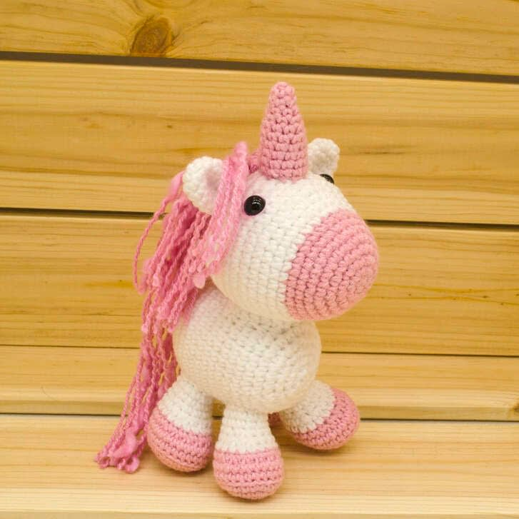 handmade pink unicorn doll