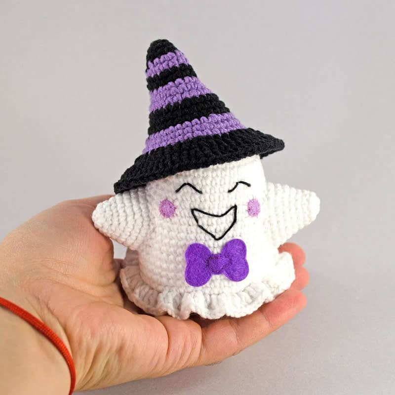 purple halloween ghost front view