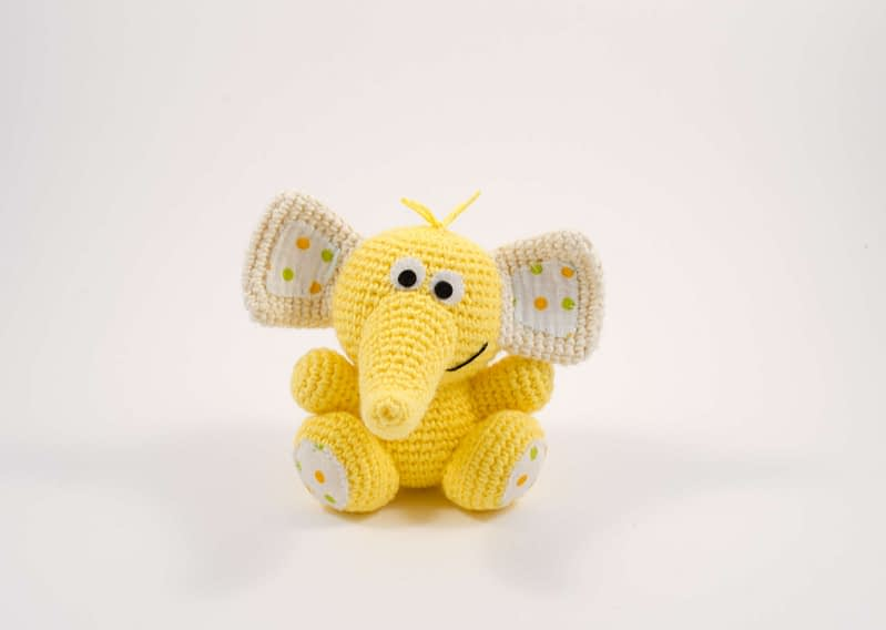 crochet cute elephant toy front view
