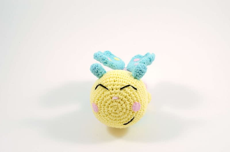 amigurumi baby butterfly front view