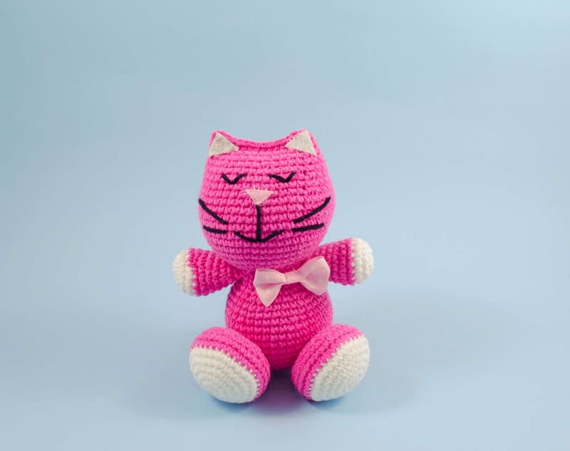 pink kitty front view